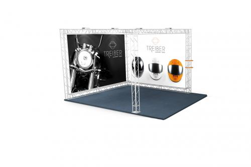 Stand modulaire 9 m2 tissu ou PVC tendu